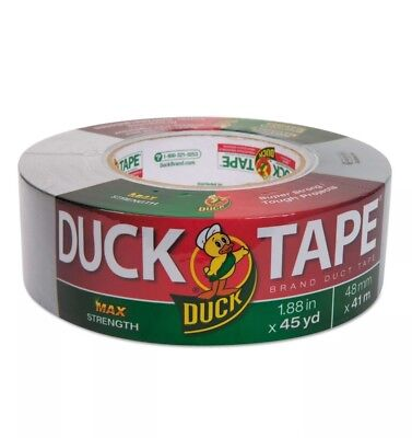 Duck Maximum Strength Duct Tape 11.5mil 1.88 X 45yd 3 Core Silver 240201