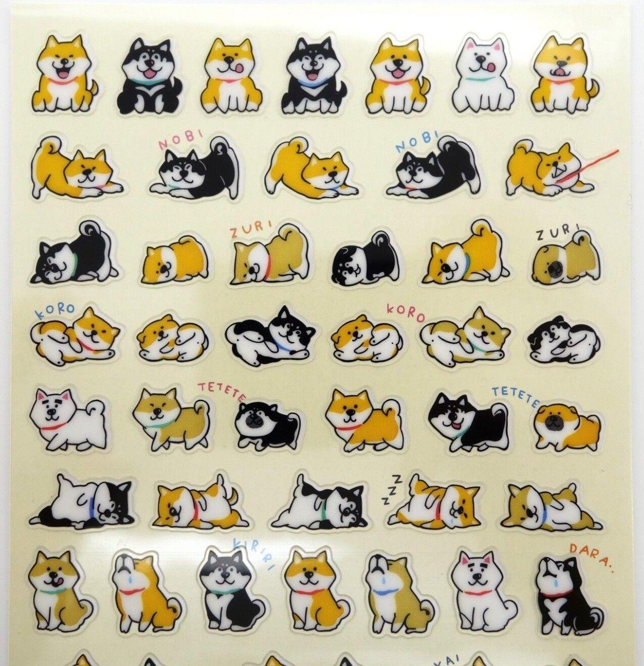 Japanese Shiba Inu stickers! Kawaii stickers, cute stickers,