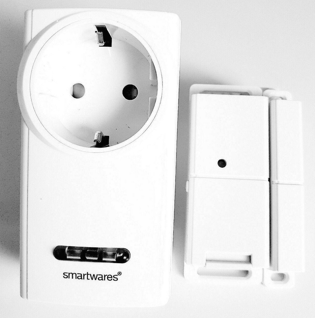 Smartwares Funk-Abluftsteuerung mit Fenster-Magnetkontakt und Funksteckdose für