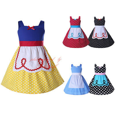 Girls Princess Costume Snow White Cosplay Christmas Party Halloween Fancy Dress](Halloween Wedding Fancy Dress)