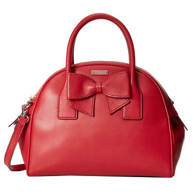 KATE SPADE Hanover Street Leather LORIN Domed Satchel Handbag • Dynasty Red NWT