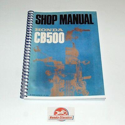Honda Factory Workshop Shop Manual Book CB500 500/4 SOHC, Reproduction. HWM004