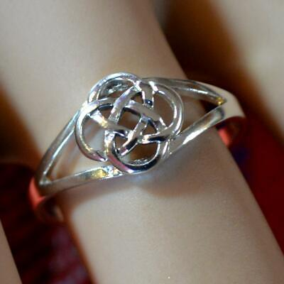 SILVER second hand Celtic style ring