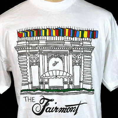 The Fairmont Hotel San Francisco Luke-A-Tuke Vtg L T-Shirt Large Mens NOS 1990s for sale  Shipping to Canada