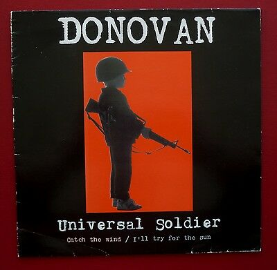 "DONOVAN - Universal Soldier (1991 3 trk 12"" in PS on the Gulf Peace Team label)"