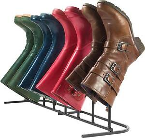 Andrew James Boot Rack Welly 4 Pair In or Outdoor Wellington Riding Walking