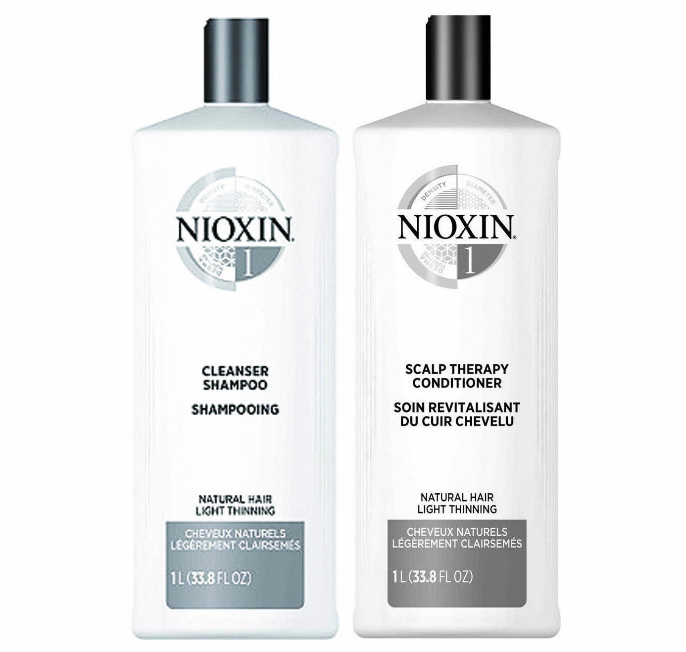 Nioxin System 4 Cleanser and Scalp Therapy Duo, 33.8 oz