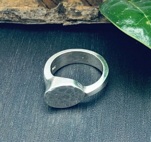 Taxco Mexico Mexican 925 Sterling Silver Hammered Solid Ring 6 1/2  Size 6.5 NEW