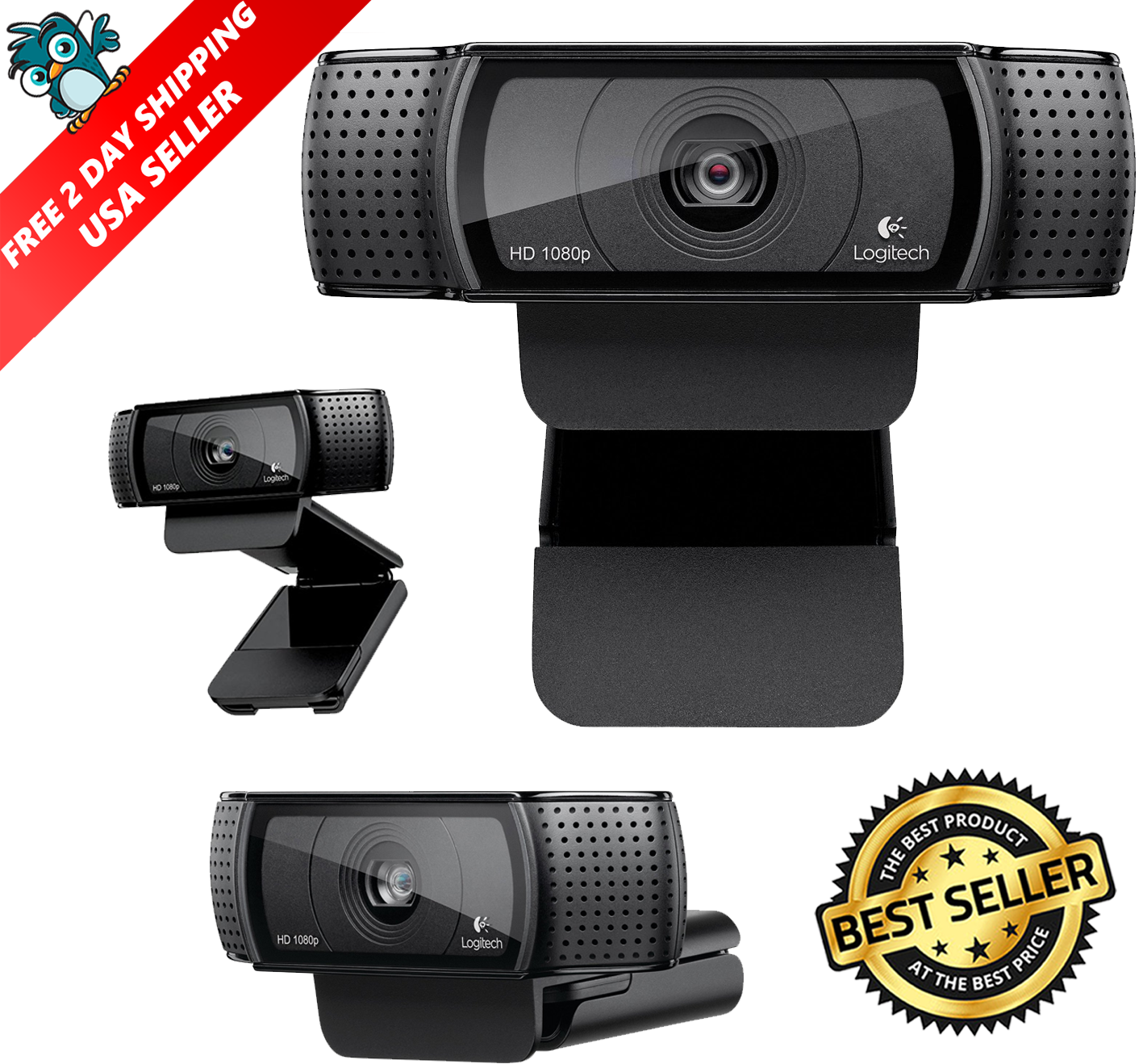 Logitech C920 Pro Stream Webcam 1080p Camera For Hd Video...