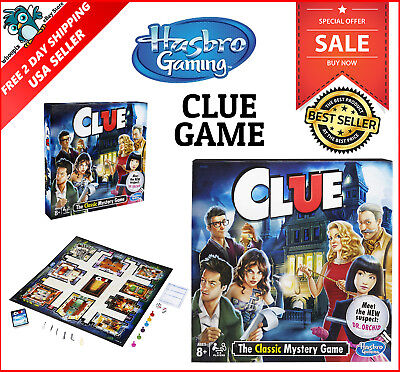 Clue Game Board Game Gift for Kids 8 9 10 11 12 Years Old of Age Boys Girls New - 8 Year Old Games For Boys