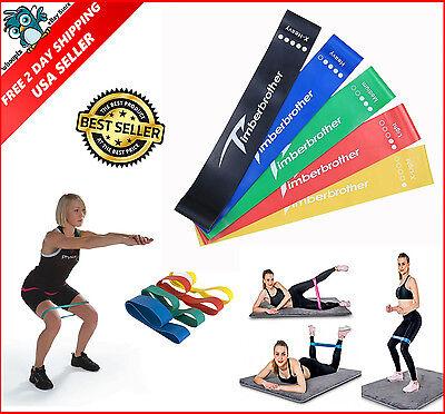 Resistance Bands Loop Exercise Yoga Elastic Workout Band Fitness Training 5pcs