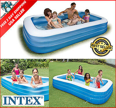 Intex Swim Center Family Inflatable Pool Large Summer Swimming Water Outdoor Fun