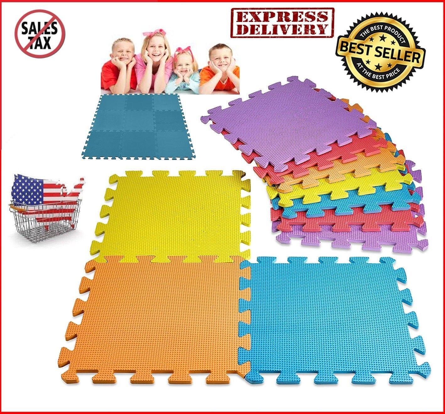 Floor Mat 10-Tile Exercise Mat Solid Foam EVA Puzzle Playmat