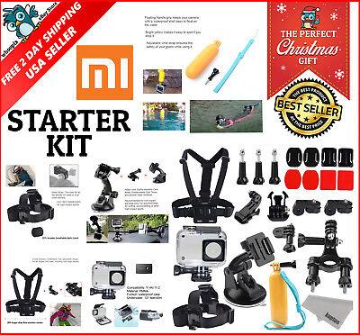 Accessories Kit for Xiaomi Xiaoyi Yi 4K Lite Waterproof Housing Case Head Strap