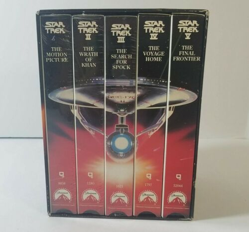 Vintage, 1991, Star Trek The Movies, VHS, 25th Anniversary Collectors Boxed Set