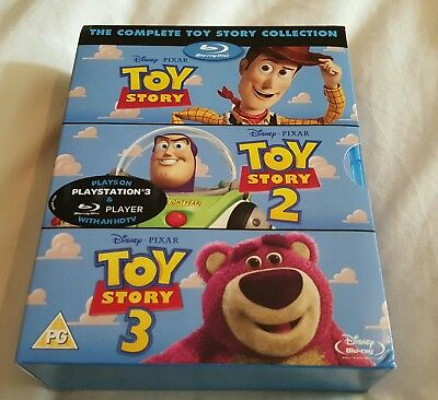 TOY STORY 1 2 3 Trilogy Blu ray Boxset Collection * UK Disney * Sealed * Bluray