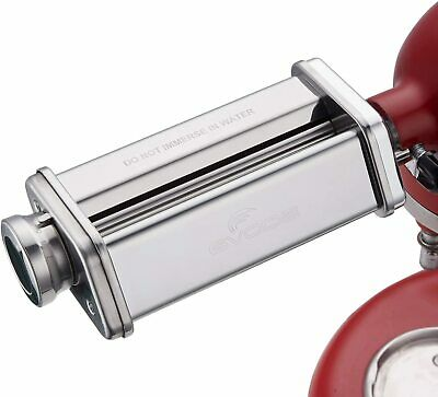 Pasta Sheet Roller Attachment for KitchenAid Stand Mixer, Stainless Steel Pasta