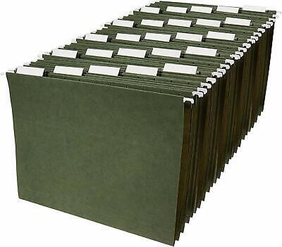 Hanging Organizer File Folders - Letter Size Green 25-pack