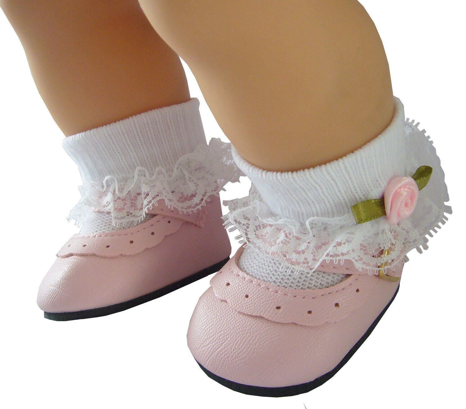 pink shoes rosebud socks for bitty baby