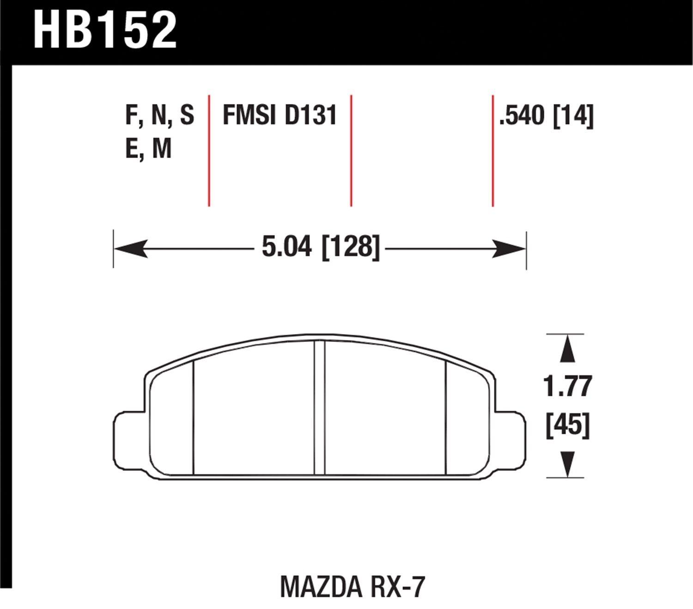 Front Hawk Performance HB155G.580 Disc Brake Pad
