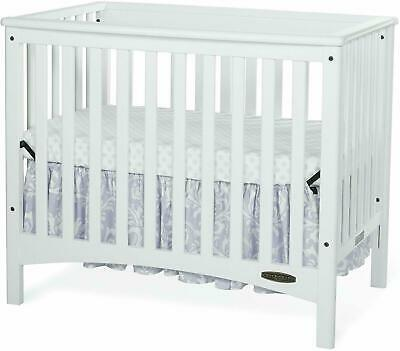 Child Craft London Euro Mini 2-in-1 Convertible Crib & Mattress White F50001.46