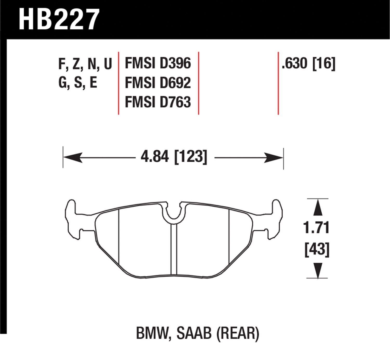 Hawk Performance Hb227v630 Designed For High Deceleration Rates Saab Brakes Diagram Disc Brake Pads
