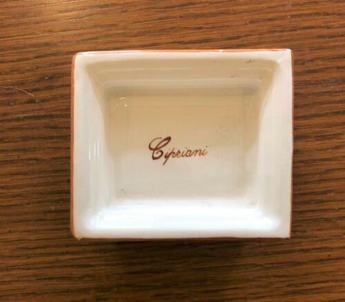 Vintage Hotel Cipriani Porcelain Tray/Dish Venice Italy