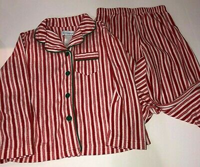 Child Christmas Pajamas (Pajamagram Kid Pajamas 8 Christmas Red Candy Cane Striped Fleece Child Boy)