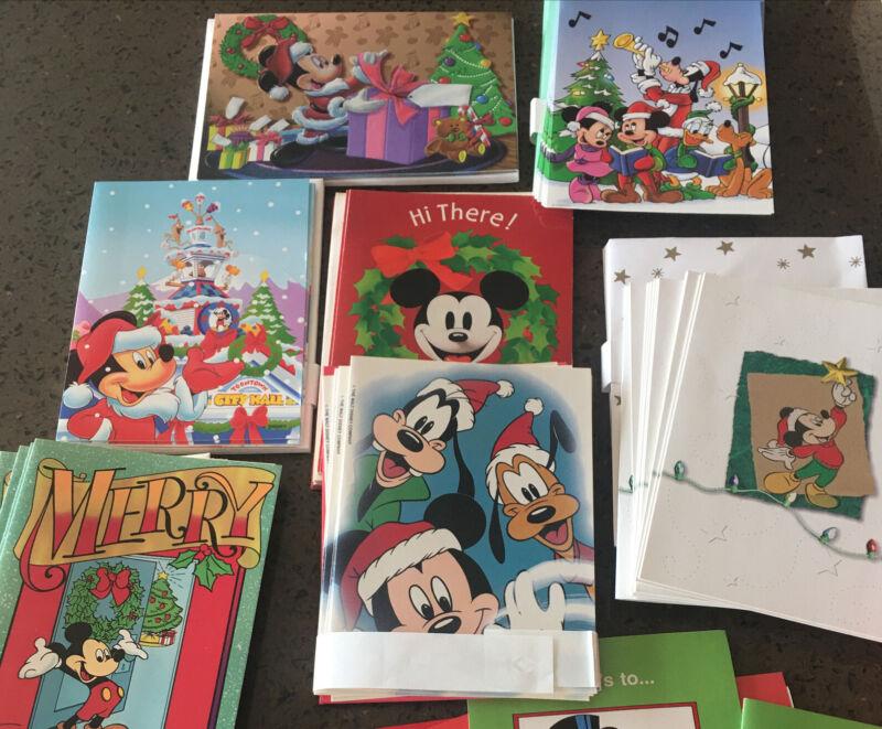 LOT OF 50+ DISNEY CHRISTMAS CARDS Hallmark ⭐️ Paper Magic  ⭐️  Grand Award