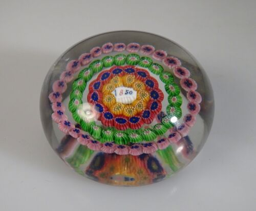Vintage 1920s Baccarat Dupont Millefiori Glass Paperweight    -          55294