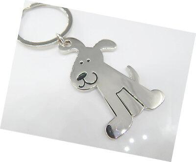 Schlüsselanhänger HUND  Metall silber Schlüsselring Anhänger