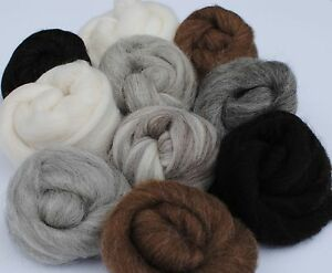 300g-Natural-Wool-Tops-Animal-Mix-Felting-Wool
