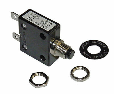 Push Button 25 Amp Circuit Breaker For 12/24/50 Volt Dc Or 120/240 Volts Ac
