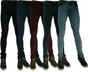 MENS-ZICO-SUPER-SKINNY-STRETCH-PUNK-RETRO-DENIM-JEANS-28-30-32-34-36-38-40