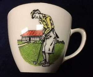 Vintage Westminster China Female Golfing Tea Cup Made in Australia