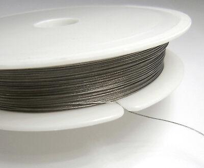 Stahlseide 35-Meter-Rolle Schmuckdraht 0,5 mm Draht ummantelt Spule Basteldraht