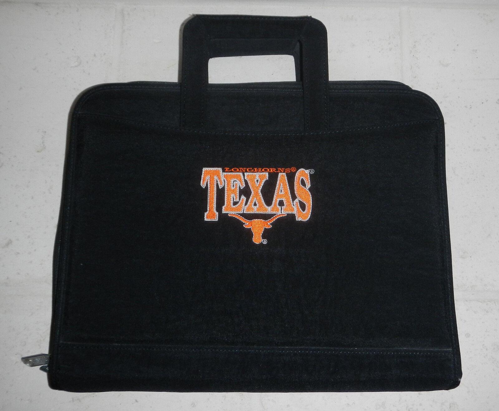 university of texas ut longhorns briefcase binder
