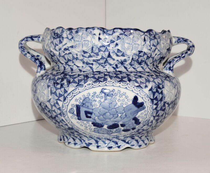 Vintage Bombay Co Blue & White Chinese Porcelain Planter/Cachepot