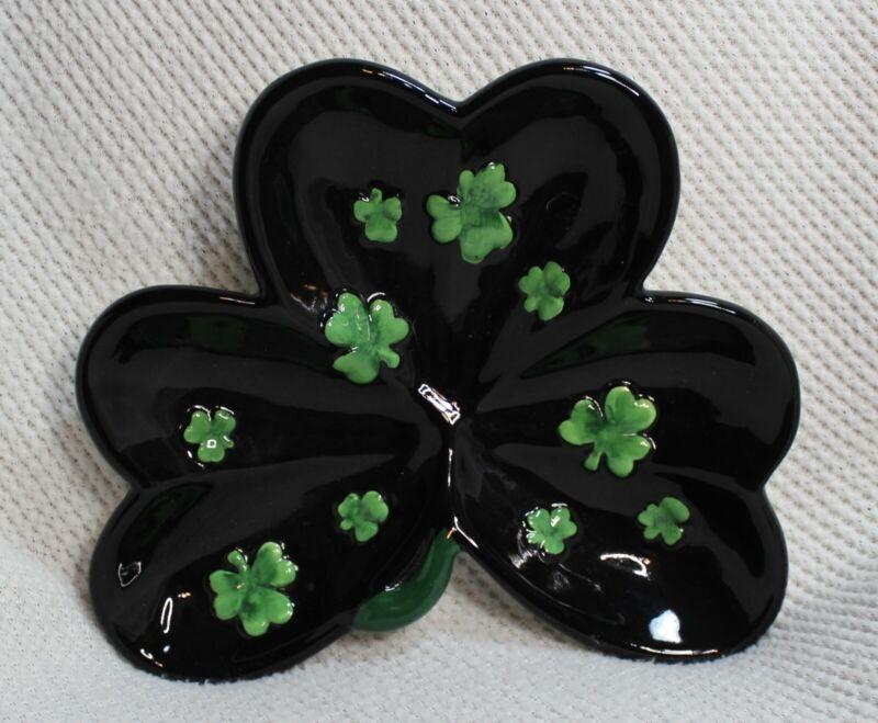 Shamrock Candy Dish Ceramic St. Patrick