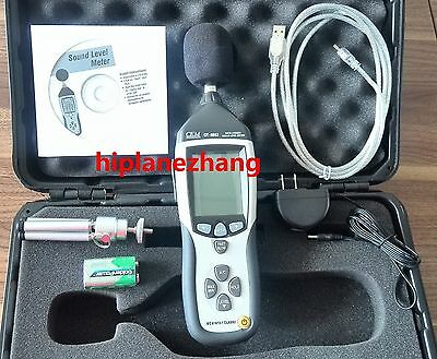 Sound Level Meter Noise Tester Memory 32700 Readings Analog Acdc Output Usb