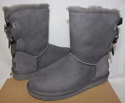 UGG Women's Bailey Bow II 2 Grey suede boots 1016225 New With - New Uggs With Bows
