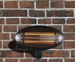 WestWood Patio Heater Garden Outdoor Quartz 2KW Electric Wall Mounted Heating