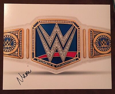 wwe naomi signed autographed smackdown womens belt 8x10 photo with proof