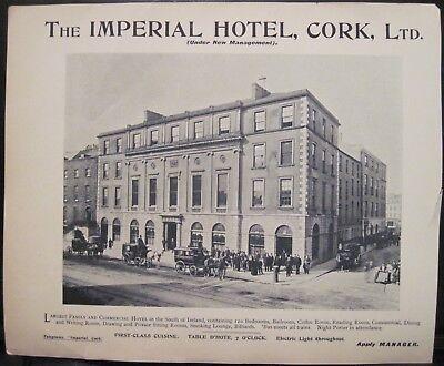 Vintage Irish Advertisement IMPERIAL HOTEL CORK City Guy & Co Guide Roto Ireland