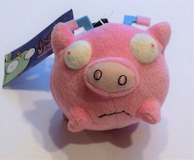 Nickelodeon Invader Zim Cartoon Alien Gir Piggy Stuffed Plush Clip On Pink (Invader Zim Gir Plush)
