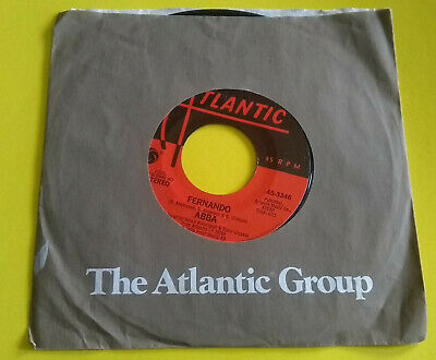 "ABBA Fernando / Rock Me 7"" Vinyl Record 45 Rpm Atlantic (45-3346)"