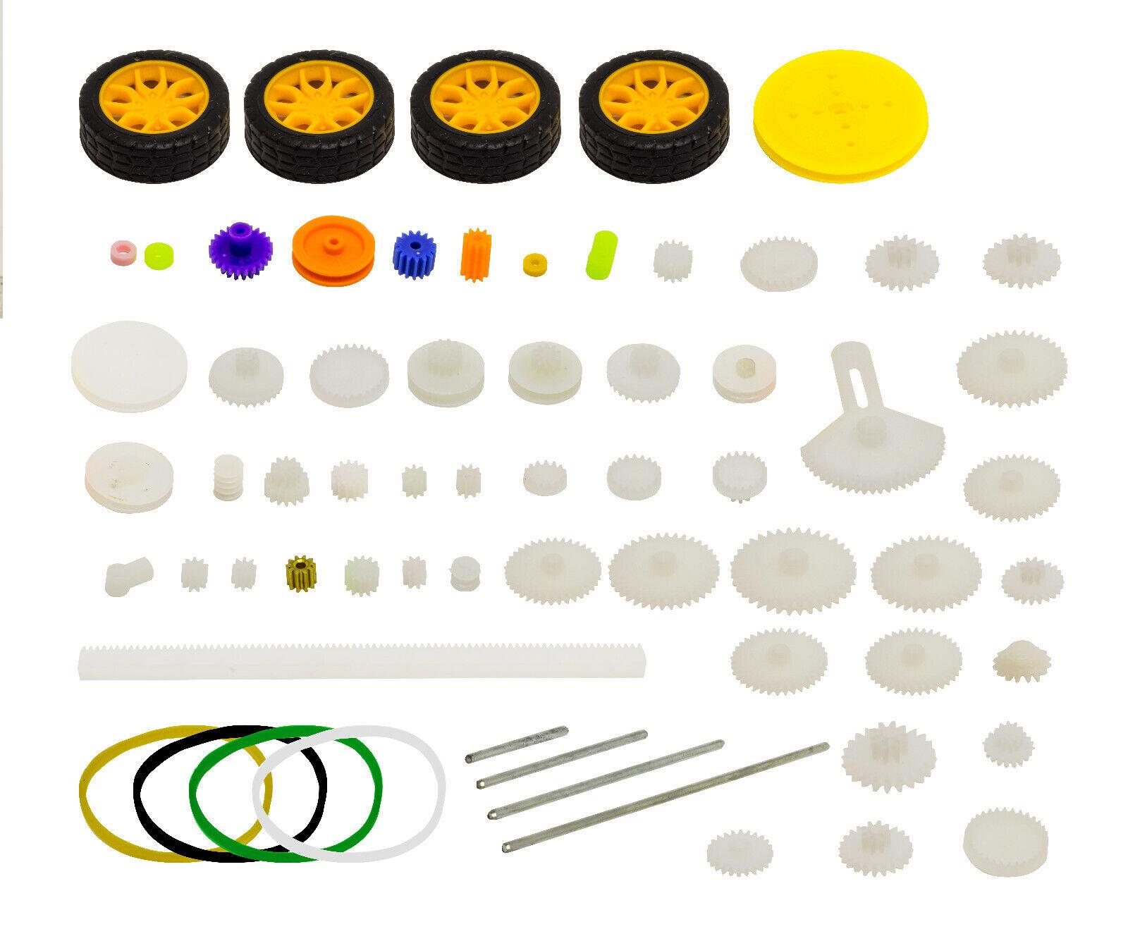 78 Teile Nylon Zahnräder Zahnrad Getriebe Set für Arduino Steppermotoren Motor
