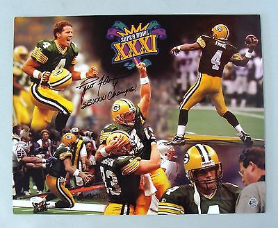 d6a370fe813 Green Bay Packers Brett Favre Signed Super Bowl 16x20 Photo Autograph Auto  JSA
