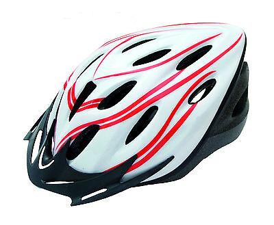Casco de Ciclismo Deportivo Blanco Rojo para Bicicleta Carretera Road MTB 3487