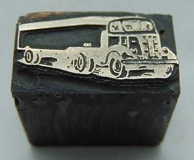 Vintage Printing Letterpress Printers Block Old Semi Truck All Metal